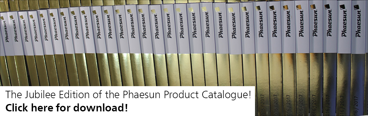 The jubill Edition of the Phaesun Product Catalogue