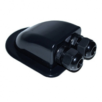 Roof Duct Water Proof Two Black