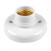 Lamp Screw Socket E27, White